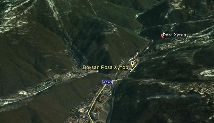 Роза хутор на карте